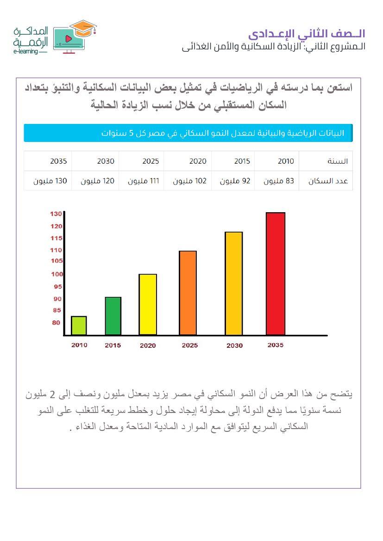 بحث الزيادة السكانية والأمن الغذائي لتانية اعدادى (7)