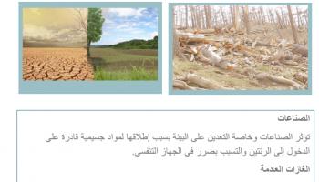 بحث وورد و PDF عن البيئة للصف الثالث الإعدادي جاهز على كتابة الكود